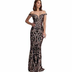 Dresses & Skirts - 🆕Off Shoulder Sequins Embellished Formal Dress